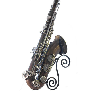 Saxophone stand One Trick Pony handmade by Locoparasaxo wall-mounted instrument stands for tenor sax