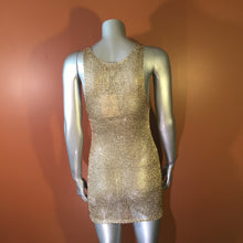 24 Karat Magic Gold Crochet Mini Dress