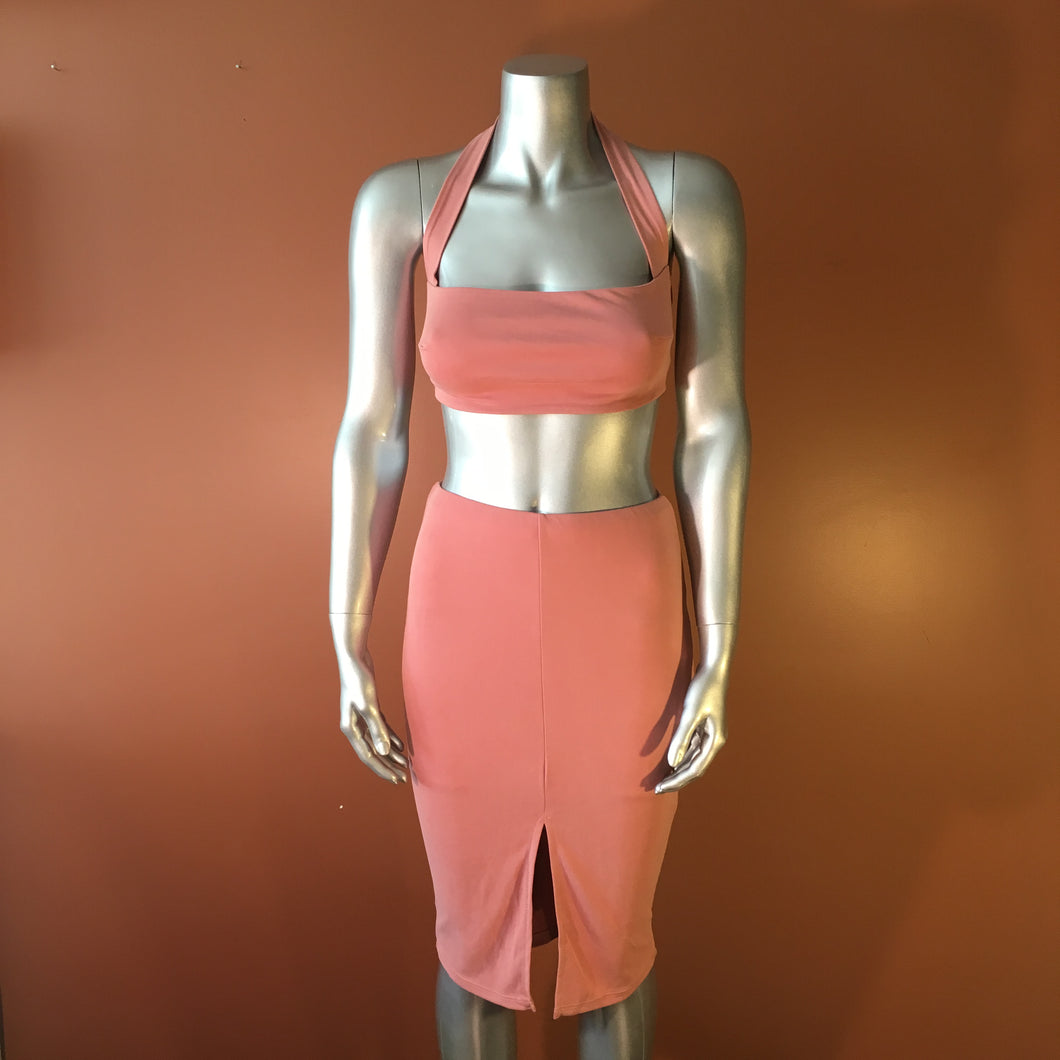 Hot Tamale Two Piece Crop Top & Pencil Skirt Set