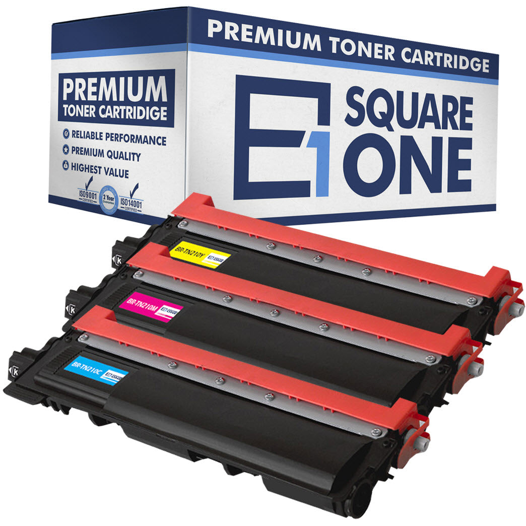 eSquareOne Compatible Toner Cartridge Replacement for TN210C TN210M TN210Y (Cyan, Magenta, Yellow)