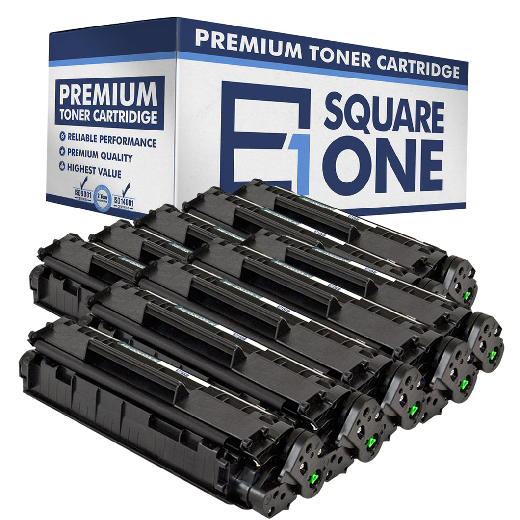 eSquareOne Compatible Toner Cartridge Replacement for HP 12A Q2612A (Black, 10-Pack)