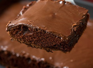 Brownie sheet cake - saysurprise