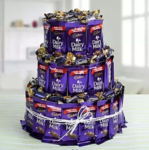 Three storied chocolate castle