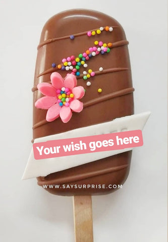 Single wish browniesicle