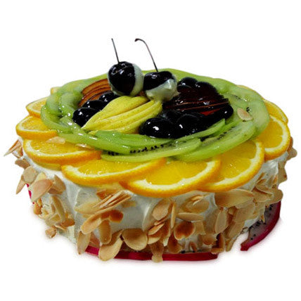 Sugar-free exotic fresh fruit cake 1 kg - saysurprise