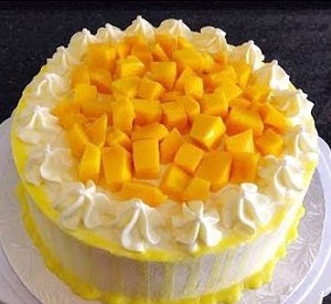 Mango and chocolate drip cake 1 kg - saysurprise