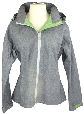 front view of Ariat Tempest Waterproof Jacket in Grey/Green