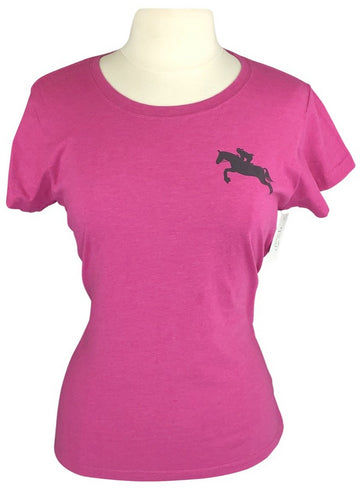 front view of Farm Girl 'Just Get Over It' Tee in Pink