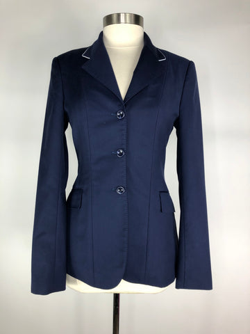 HABiT Show Jacket in Navy w/White Piping - Front View