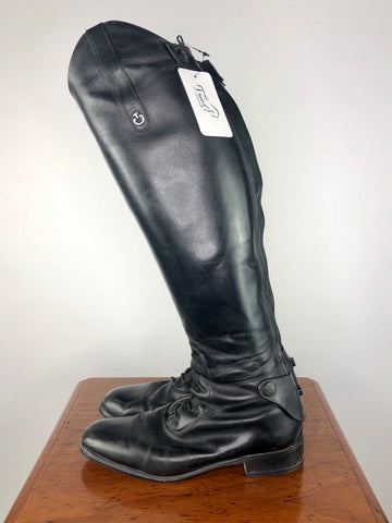 Cavalleria Toscana Tall Boots in Black - Left Side View