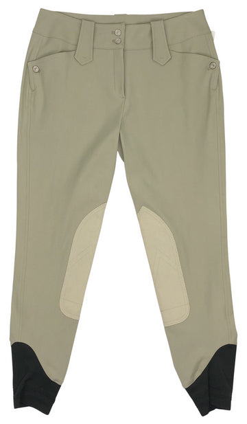 front view of Michael and Kenzie 1911 Elegance Breeches in Beige