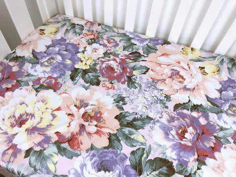 Willow Floral Cot Fitted Sheet
