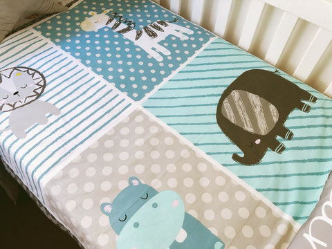 Safari Animals Cot Quilt