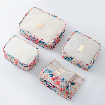 6 Piece Garden Party Packing Cube Set | numinous.co