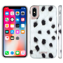 Load image into Gallery viewer, PREMIUM FURBULOUS COLLECTION APPLE IPHONE X ANIMAL FUR DESIGN MATTED TPU CASE - SPOTTIE DOTTIE