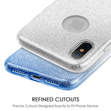 Load image into Gallery viewer, APPLE IPHONE X STARRY DAZZLE LUXURY TPU COVER CASE - SILVER BLUE