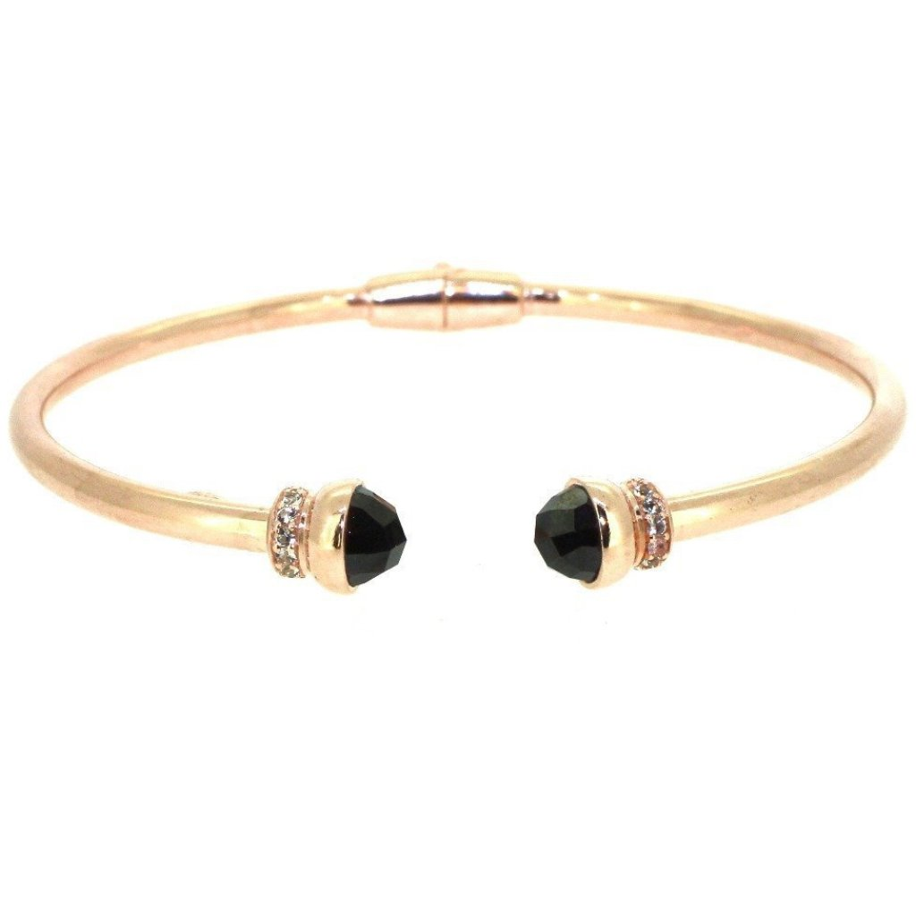 Inez Cuff Red Garnet - 18K Rose Gold Plated on 925 Sterling Silver