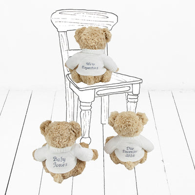 Announcement Balloon and Personalised Bear