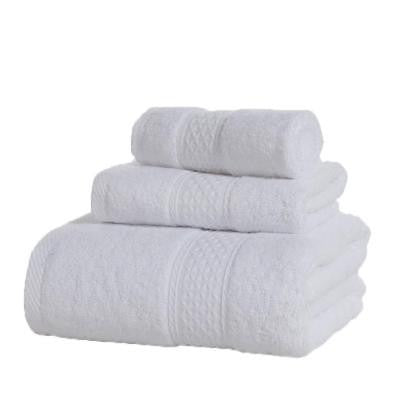 3pcs/set Luxury Cotton Towels Soft Absorbent Bath Sheet Hand Bathroom Towels Wash Cloth