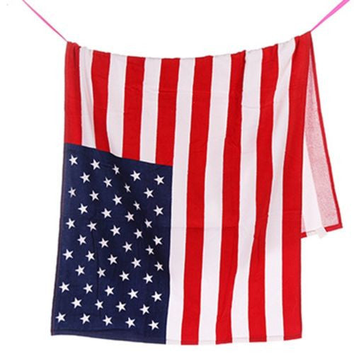 USA American Flag Beach/Bath Towel