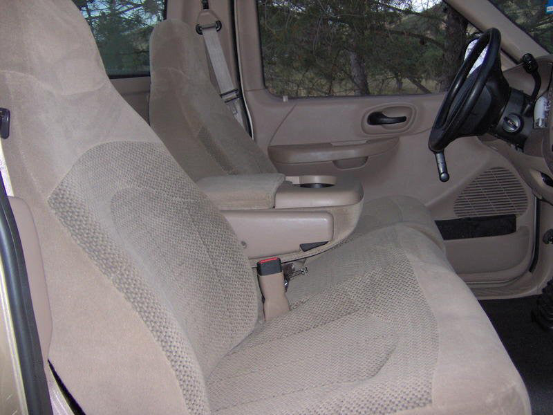 Ford F-150/250/350 40/60 Front Seats with Molded Headrests 1 Cup Console