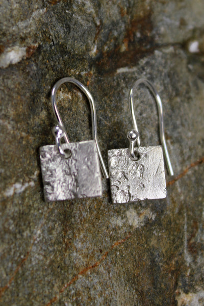'Waters Edge Collection' Square Earrings in Fine Silver