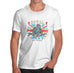 Mens Union Jack Royal Navy Distress Print T-Shirt