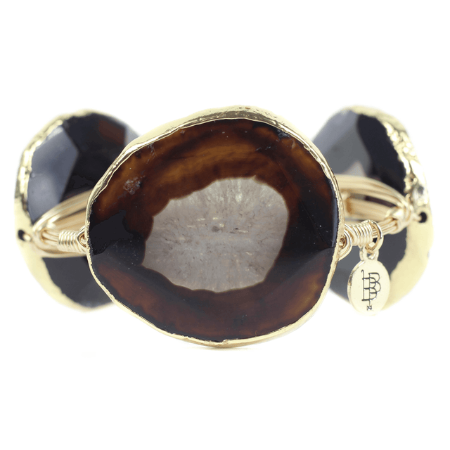 Brown Bourbon And Boweties Bangle Bracelet