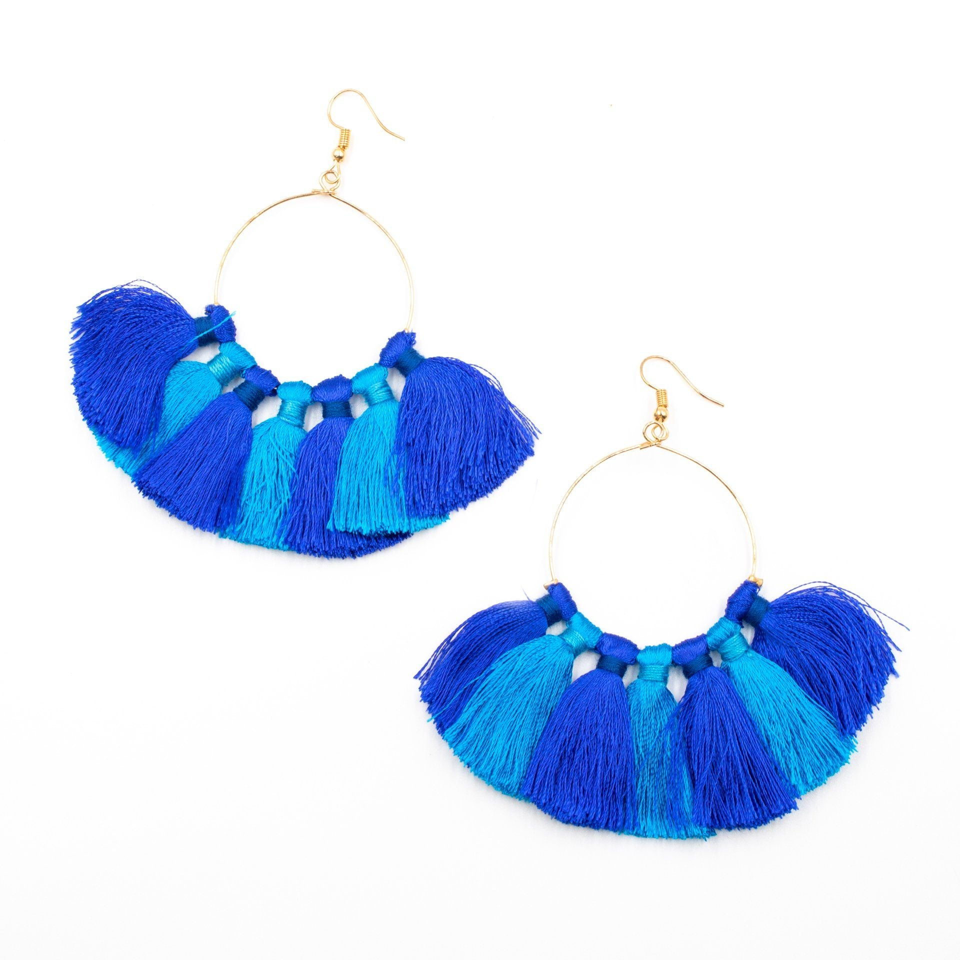 H20 Hoop Cotton Tassel Earrings - Arlo and Arrows
