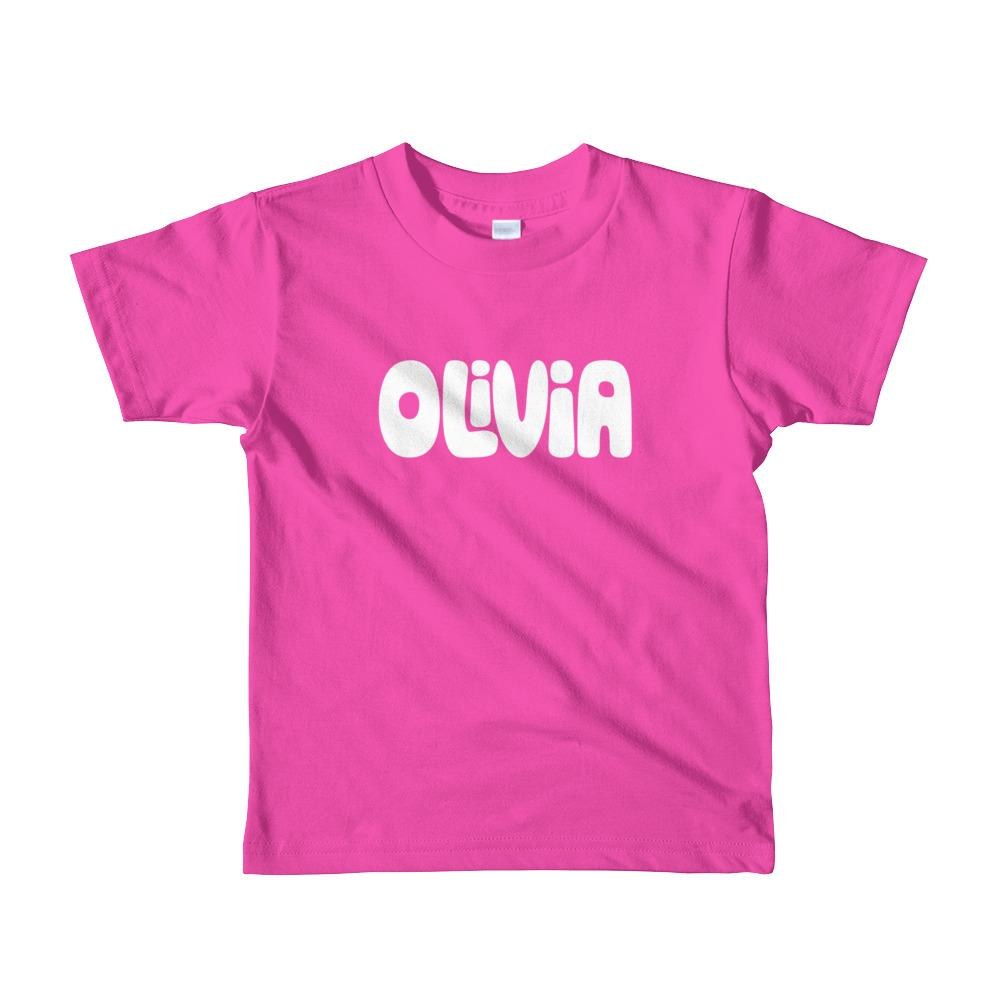 Pink Name Shirt For Toddlers