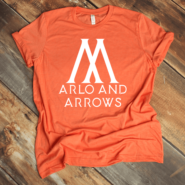 Arlo And Arrows Graphic Tee In Heather Orange