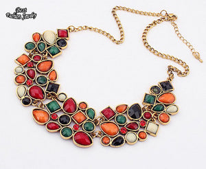 Popular Multicolor Clavicle Chain Necklace
