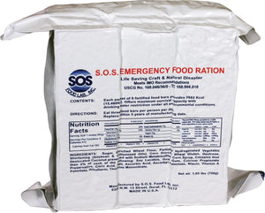 SOS Food Labs Rations Emergency 3600 Calorie Food Bar - 3 Day / 72 Hour Package with 5 Year Shelf Life- 5 Packs