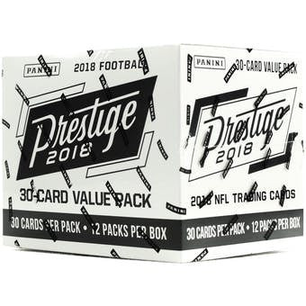 2018 Panini Prestige Football Value Pack Box