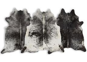 Speckled Black Cowhide Rugs