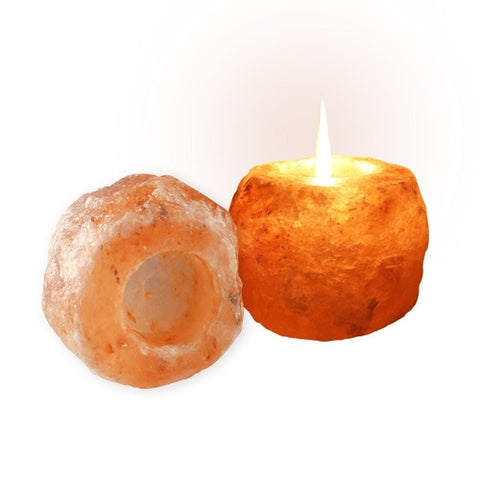 Image of Himalayan Rock Salt Candle Holder - Pink Salt 2