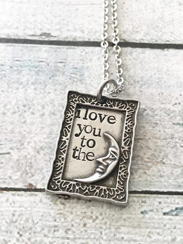 Image of Jewelry & Watches - Love You To The Moon And Back - Hand Stamped