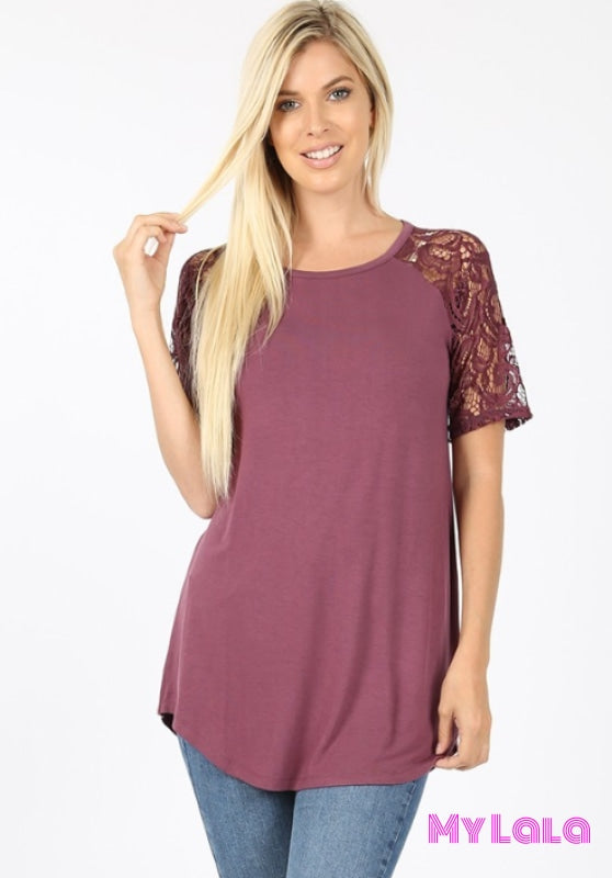 1 5553 Sarah Shoulder Lace (Eggplant)