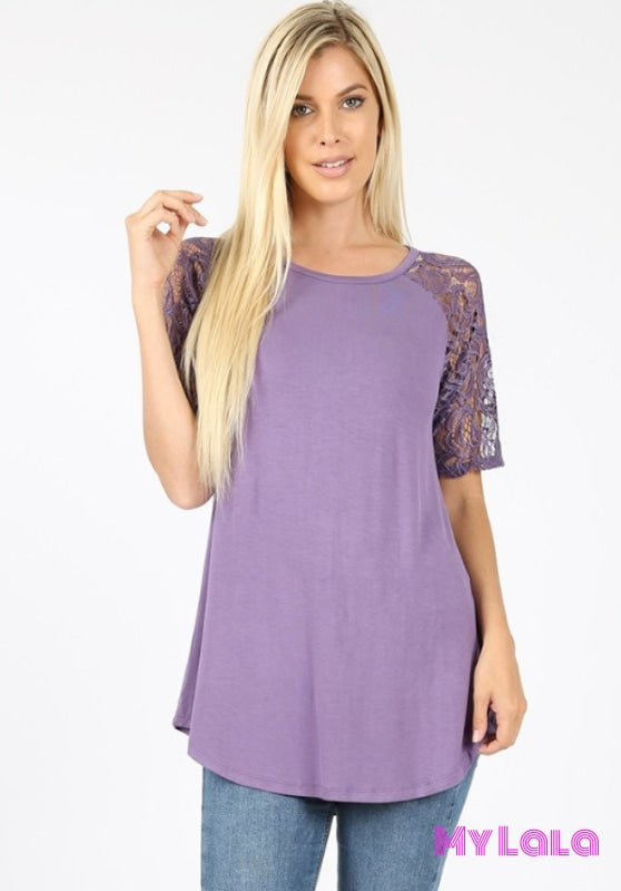 1 5553 Sarah Shoulder Lace (Lilac Grey)
