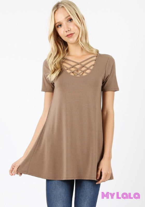 Houston Blouse (Mocha)