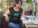 """Verified Tree Hugger"" Ladies' Scoopneck T-Shirt"