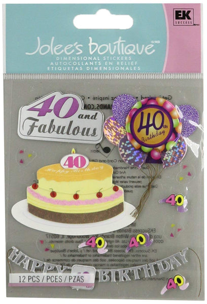 Joleees 40th Birthday Stickers