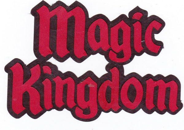 Disney World Magic Kingdom Paper Piecing