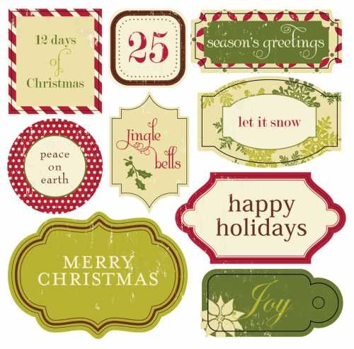 Making Memories Christmas Signs Stickers