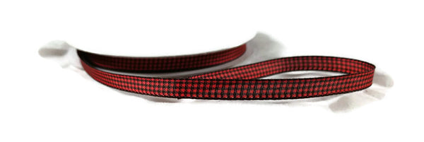 Ribbon Mini Check Red Black Buffalo Plaid