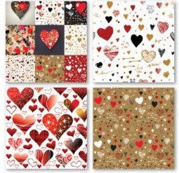 Graffiti Valentine Heart - 12x12 Scrapbook Papers Set of 2 - by Reminisce