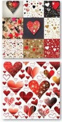 Graffiti Hearts - Valentines - 12x12 Scrapbook Paper - 5 Sheets - by Reminisce