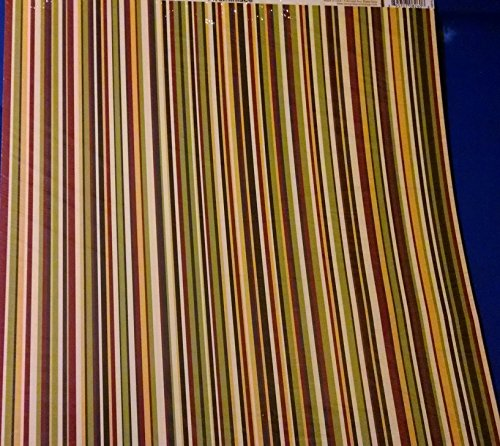 Reminisce Making the Grade Teen Stripes Scrapbook Paper