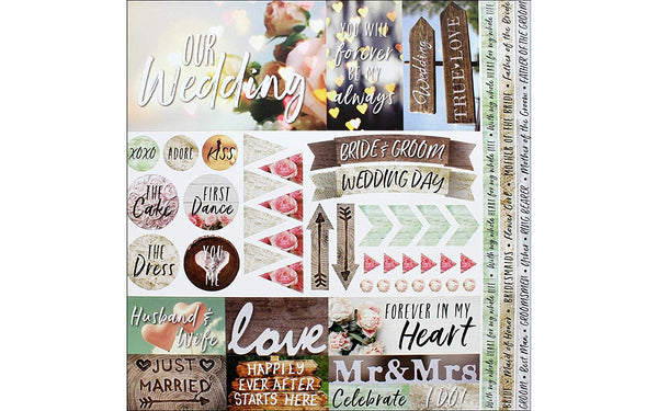 Modern Wedding Stickers by Reminisce