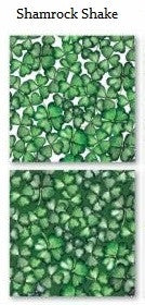 Shamrock Shake Print St Patricks Day - 12x12 Scrapbook Papers - 5pc